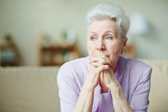 older woman isolated