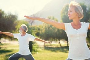older couple exercising